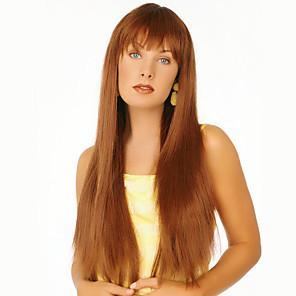 cheap Human Hair Capless Wigs-Human Hair Wig Straight Straight Capless Beige Blonde / Bleach Blonde Dark Brown Honney Blonde