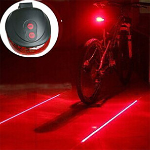 cheap Bike Lights & Reflectors-Laser LED Bike Light Bike Light Lanterns & Tent Lights Rear Bike Tail Light - Mountain Bike MTB Bicycle Cycling Impact Resistant LED Light Easy Carrying Warning AAA 400 lm Battery Camping / Hiking