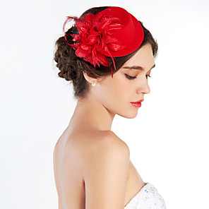 cheap Fascinators-Crystal / Fabric Tiaras / Hats with 1 Wedding / Special Occasion / Party / Evening Headpiece