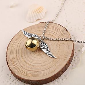 cheap Pendant Necklaces-Women's Pendant Necklace Ladies Silver Golden Necklace Jewelry 1pc For