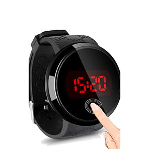 cheap Sport Watches-Men's Wrist Watch Digital Watch Digital Silicone Black Water Resistant / Waterproof Touch Screen Creative Digital Simple watch - Black Black / White White / Silver Two Years Battery Life / LED