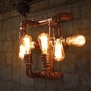 cheap Wall Sconces-Rustic / Lodge Wall Lamps & Sconces Metal Wall Light 110-120V / 220-240V max60w