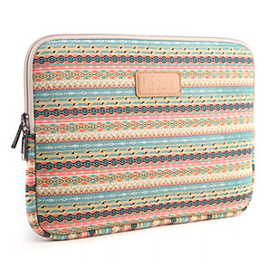 """cheap Sleeves,Cases & Covers-13"""" 14"""" 15.6"""" Small diamond lattice Pattern Canvas Bag Computer Protective Sleeve Case for Macbook 13 /15 HP lenovo"""