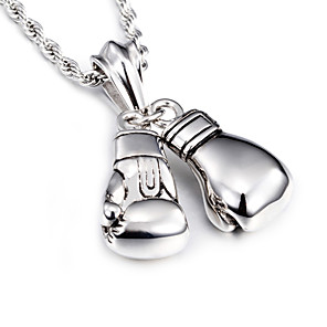 cheap Blush-Men's Pendant Necklace Long European Fashion Stainless Steel Titanium Steel Silver Necklace Jewelry For Christmas Gifts Daily Casual