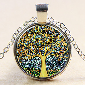cheap Necklaces-Women's Pendant life Tree Ladies Fashion Sterling Silver Copper Bronze Silver Necklace Jewelry For Wedding Party Daily Casual