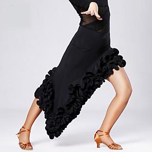 cheap Latin Dancewear-Latin Dance Skirt Draping Women's Training Performance Viscose