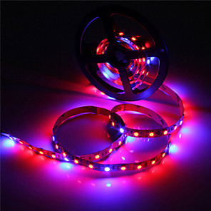 cheap Neon LED Lights-ZDM 5M Waterproof LED Light Strips Flexible Tiktok Lights IP65 5050 4 Red+1 Blue Full Spectrum Led Grow Light 300Leds Led Strip Lamps for Plants Growing Aquarium Lighting 1pc