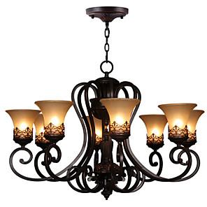 cheap Ceiling Lights-Ecolight 8-Light 67(26.5'') Crystal Chandelier Metal Glass Painted Finishes Vintage 110-120V / 220-240V