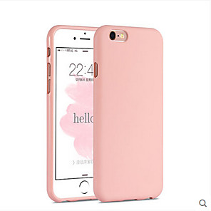 cheap iPhone Cases-Case For Apple iPhone 6s Plus / iPhone 6s / iPhone 6 Plus Back Cover Solid Colored Soft Silicone