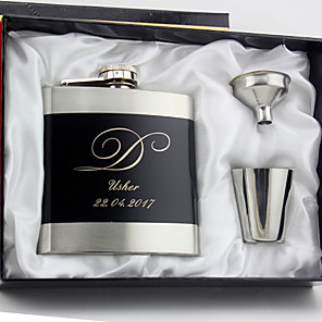 cheap Wedding Gifts-Personalized Stainless Steel Barware & Flasks / Hip Flasks Groom / Groomsman / Couple Wedding / Anniversary / Birthday