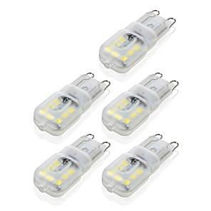cheap LED Bi-pin Lights-YWXLight® G9 14LED 4W 2835SMD 450-550 lm LED Bi-pin Lights Warm White Cool White Dimmable Led Corn Bulb Chandelier Lamp 5PCS