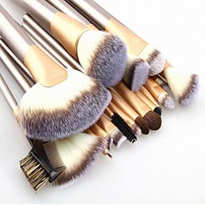 cheap Makeup Brush Sets-Make up Brushes 24pcs Premium Goat Hair Cosmetic Makeup Brush Set for Foundation Blending Blush Concealer Eye Shadow Travel Makeup bag Included