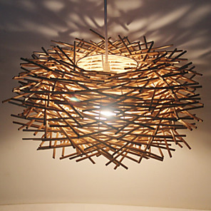 cheap Pendant Lights-1-Light LED Pendant Light Wood / Bamboo Wood / Bamboo Novelty Others Modern Contemporary 220-240V