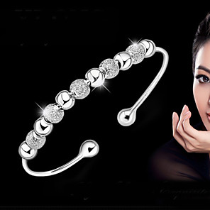 cheap Bracelets-Women's Bracelet Bangles Bracelet cuff Ladies Basic Fashion everyday Sterling Silver Bracelet Jewelry Silver For Wedding Party Daily Casual Masquerade Engagement Party