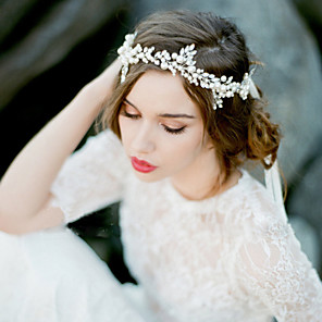 cheap Wedding Veils-2016 New Women's Pearl / Rhinestone / Imitation Pearl Headpiece - Wedding / Special Occasion Headbands 1 Piece
