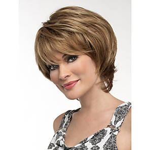cheap Synthetic Trendy Wigs-Synthetic Wig Wavy Wavy Wig Blonde Short Blonde Synthetic Hair Women's Blonde