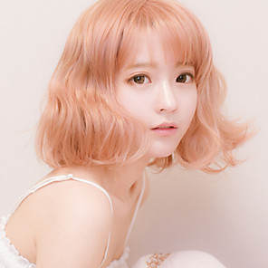 cheap Costume Wigs-Cosplay Alice Cosplay Wigs Men's Women's 18 inch Heat Resistant Fiber Pink Anime Wig
