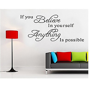cheap Wall Stickers-Still Life Wall Stickers Words & Quotes Wall Stickers Decorative Wall Stickers, Vinyl Home Decoration Wall Decal Wall Decoration / Removable