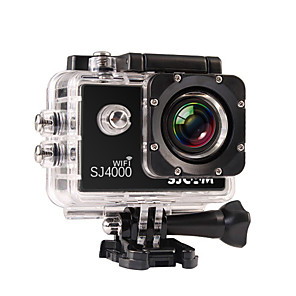cheap Sports Action Cameras-SJCAM SJ4000 WIFI Sports Action Camera Gopro Gopro & Accessories Outdoor Recreation vlogging Waterproof / WiFi 32 GB 8 mp / 5 mp / 3 mp 4x 1920 x 1080 Pixel 1.5 inch CMOS H.264 30 m ±2EV / iPhone iOS