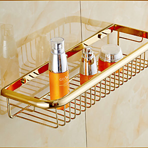 cheap Bathroom Shelves-Bathroom Shelf Neoclassical Brass 1 pc - Hotel bath