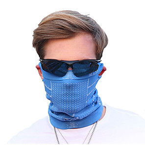 cheap Protective Gear-Pollution Protection Mask Men's Cycling / Bike Bike / Cycling Sunscreen Breathable Quick Dry Winter Solid Color Terylene Purple Blue Pink / Stretchy / Mountain Bike MTB / Road Bike Cycling