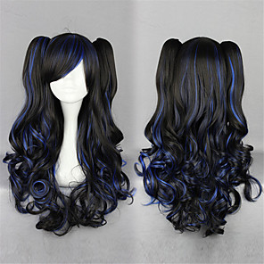 cheap Lolita Wigs-Lolita Wigs Sweet Lolita Dress Black Lolita Lolita Wig 28 inch Cosplay Wigs Solid Colored Wig Halloween Wigs