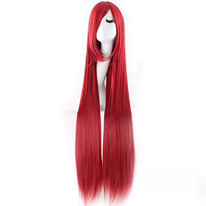 cheap Historical & Vintage Costumes-Cosplay Costume Wig Synthetic Wig Cosplay Wig Straight Straight Wig Very Long Red Synthetic Hair Women's Red