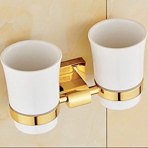 cheap Toothbrush Holder-Toothbrush Holder Neoclassical Brass 1 pc - Hotel bath