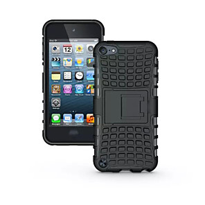 cheap iPhone Cases-TPU+ PC Hybrid Rugged Rubber Armor stand Hard Cover Cases For iPod Touch 5