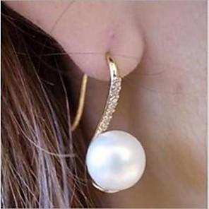 economico Collana-Per donna Orecchini a bottone Perle finte Strass Orecchini Gioielli Pearl White Per Matrimonio Feste Quotidiano Casual
