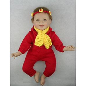 """cheap Reborn Doll-NPK DOLL 22 inch Reborn Doll Baby Reborn Baby Doll Newborn lifelike Cute Hand Made Child Safe Full Body Silicone 22"""" with Clothes and Accessories for Girls' Birthday and Festival Gifts / Non Toxic"""