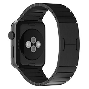 cheap Bluetooth Car Kit/Hands-free-Watch Band for Apple Watch Series 5/4/3/2/1 Apple Butterfly Buckle Stainless Steel Wrist Strap