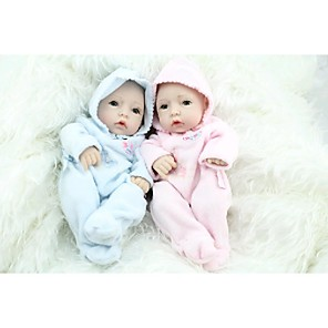 cheap Reborn Doll-NPKCOLLECTION NPK DOLL Reborn Doll Baby Newborn lifelike Cute Hand Made Child Safe Full Body Silicone with Clothes and Accessories for Girls' Birthday and Festival Gifts / Non Toxic / Lovely / Kid's