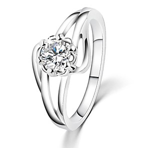 cheap Rings-White Gold Plated Flower Wedding Rings AAA Zircon Vintage Engagement Rings For Women CZ Diamond Jewelry Bague GiftsImitation Diamond Birthstone