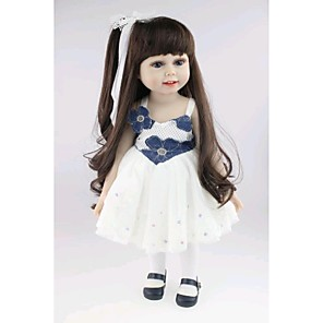 """cheap Reborn Doll-NPKCOLLECTION 18 inch NPK DOLL Reborn Doll Baby Newborn lifelike Cute Hand Made Child Safe Silicone PVC(PolyVinyl Chloride) Vinyl 18"""" with Clothes and Accessories for Girls' Birthday and Festival"""