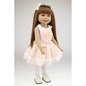 """cheap Reborn Doll-NPKCOLLECTION 18 inch NPK DOLL Princess Doll Girl Doll Baby Newborn lifelike Cute Hand Made Child Safe Full Body Silicone 18"""" with Clothes and Accessories for Girls' Birthday and Festival Gifts"""