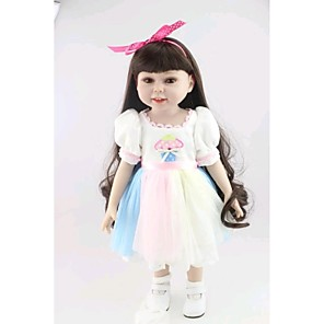 """cheap Reborn Doll-NPK DOLL 18 inch Reborn Doll Baby Newborn lifelike Cute Hand Made Child Safe Silicone PVC(PolyVinyl Chloride) Vinyl 18"""" with Clothes and Accessories for Girls' Birthday and Festival Gifts / Non Toxic"""