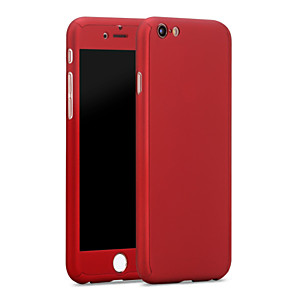 cheap iPhone Cases-Case For Apple iPhone 6s Plus / iPhone 6s / iPhone 6 Plus Water Resistant Back Cover Solid Colored Hard PC