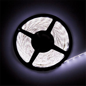 cheap LED Strip Lights-ZDM 1PC LED Light Strips Waterproof Tiktok Lights IP 65 5M 16.4 Feet 600 LEDs 8mm Warm White 3000-35000K 2835 85 Lumens per Foot 12V DC Tape Light