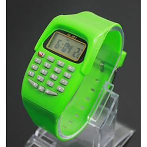 cheap Square & RectangularWatches-Kid's Fashion Watch Digital Watch Quartz Digital Ladies LCD Black / Blue / Red Digital - Black Purple Blue One Year Battery Life / Japanese / Japanese