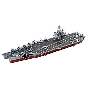 cheap Building Blocks-Aircraft Carrier 3D Puzzle Wooden Puzzle Paper Model Wooden Model Paper Kid's Adults' Toy Gift