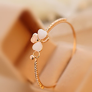 cheap Engraved Bracelets-Women's Moonstone Cuff Bracelet Ladies Classic Romantic Rhinestone Bracelet Jewelry For Daily Casual