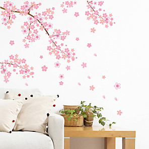 cheap Wall Stickers-Landscape / Romance / Fashion Wall Stickers Plane Wall Stickers Decorative Wall Stickers, PVC(PolyVinyl Chloride) Home Decoration Wall Decal Wall Decoration / Washable / Removable / Re-Positionable