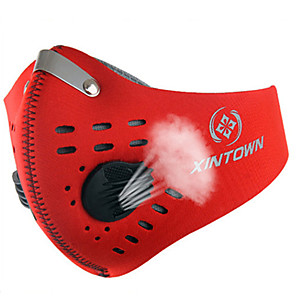cheap Protective Gear-XINTOWN Sports Mask Pollution Protection Mask Windproof Breathable Dust Proof Limits Bacteria Bike / Cycling Red Orange Blue Winter for Men's Women's Adults' Leisure Sports Cycling / Bike Motobike