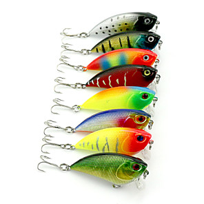 cheap Fishing Lures & Flies-8pcs Fishing Lures Vibration / VIB Sinking Bass Trout Pike Sea Fishing Freshwater Fishing Lure Fishing Hard Plastic / General Fishing