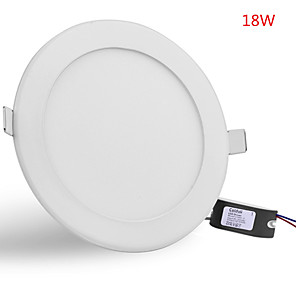 cheap LED Recessed Lights-JIAWEN LED Panel Light Downlight 18W Ultra-thin Panel LED Aluminum Surface Mounted Ceiling Down Lamp AC85-265V