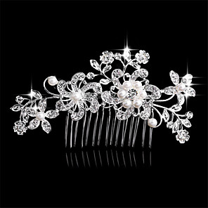 cheap Hair Accessories-Side Combs Hair Accessories Crystal Wigs Accessories Women's pcs 6-10cm cm