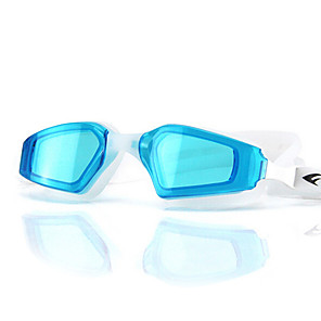 cheap Burglar Alarm Systems-Swimming Goggles Waterproof Anti-Fog Adjustable Size Anti-UV UV Protection Mirrored For Silica Gel PC Blacks Blues Light Blue Pink Black Blue