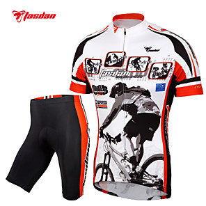 cheap Pendant Lights-TASDAN Men's Short Sleeve Cycling Jersey with Shorts Black Bike Shorts Jersey Clothing Suit Breathable 3D Pad Quick Dry Reflective Strips Back Pocket Sports Painting Mountain Bike MTB Road Bike