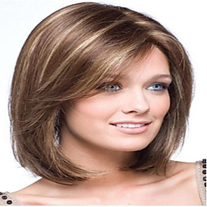 cheap Synthetic Trendy Wigs-Synthetic Wig Straight Straight Wig Medium Length Brown Synthetic Hair 10 inch Women's Brown hairjoy